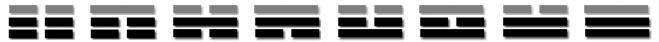 mini trigrams grey